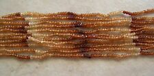 "14"" Strand Shaded Hessonite Garnet Gemstone Small Faceted Rondelle Beads 3mm"