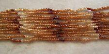 "14"" Strand Shaded Hessonite Garnet Gemstone Small Faceted Rondelle Beads 3mm"