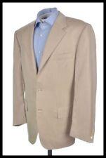 HOUSE OF BIJAN Beige CASHMERE SILK Half Norfolk Blazer Sport Coat Jacket 42 R