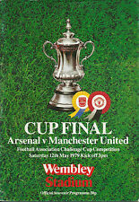 Arsenal Teams A-B Football FA Cup Fixture Programmes