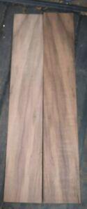 "2 pieces of Walnut Burl wood veneer 3 1/8"" x 19 3/4"" each"