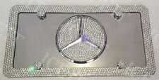 Mercedes Mirror Vanity Front license plate & frame Made with Swarovski Crystal