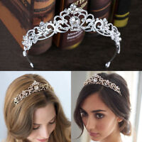 LN_ KQ_ Exquisite Hollowed Rhinestone Crown Bridal Tiara Wedding Party Headban