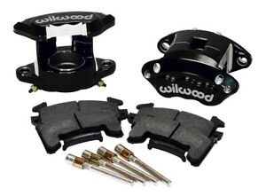 Wilwood D154 Front Caliper Kit - Black 2.50in Piston 1.04in Rotor - 140-12097-BK