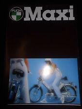 Prospekt Sales Brochure Puch Maxi Sport Maxi S Maxi S 2,25 Maxi N Roller Mofa
