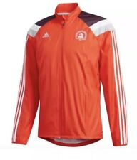 ADIDAS Boston Marathon 18' Windbreaker Running Jacket Orange  DJ2103 Mens L $110