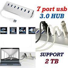 7 Port USB Hub 3.0 USB Adapter Support 2 TB für  Windows  Mac  iPhone  Samsung