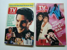 (2) 1989-90 TV Guide Magazines Madonna Photograph on the Covers