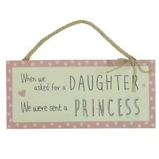 Asked For A Daughter Sent A Princess Hanging Plaque Gift Love Life Range