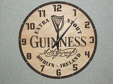 "Guinness Beer Dublin Ireland 16"" Wood Barrel Top style Wall Clock"