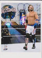 RARE WWE AJ Styles the club 8x10 PHOTO studio WWE official Wrestlemania