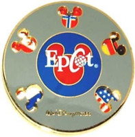 Disney Pin 5166 WDW Epcot Flags Spinner Mexico Japan US France Norway China #
