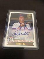 Topps Archives Lee Mazzilli Auto On Card Mets 2020 Fan Favorites