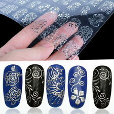 108pcs 3d Silver Flower Nail Art Stickers Decals Stamping DIY Decoration Tool 5#