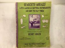 Vintage 1949 Humberto Morales Latin American Rhythm Instruments Instruction Book