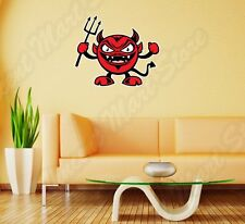 "Smiley Devil Satan Hell Angry Funny Wall Sticker Room Interior Decor 25""X20"""