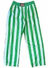 Harlem Clubs Adult Unisex basketball Warm Up Pants Side Snap on Button Green