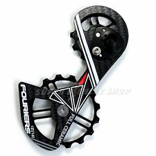 FOURIERS Carbon Derailleur Cage Ceramic Jockey Pulley Drivetrain , Black