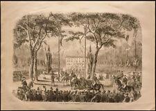 1860 - Napoléon III - Toulon - Préfecture de Toulon - gravure
