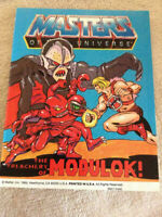 HEMAN Masters Of The Universe Vintage Mattel Set Of 4 Mini Comic Books 1980's
