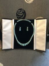 Vintage Turquoise and Silver Necklace and Earring Set
