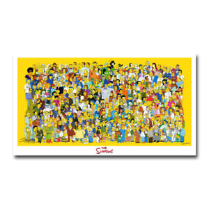 The Simpsons Art Silk Canvas Poster Print