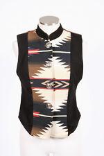 Vtg AURORA CLOTHING Rock Rim Southwestern Blanket Sleeveless Retro Jacket Vest S