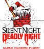 SILENT NIGHT, DEADLY NIGHT - ADULT COLORING BOOK SANTA CLAUS HORROR MOVIE 1980's