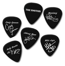 Los Smiths Morrissey Craig Mike Andy firma impresa Plectrum selecciones de la guitarra pick