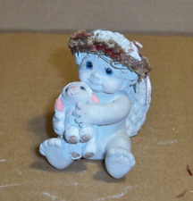 Dreamsicle Figurine Baby Holding Lamb.
