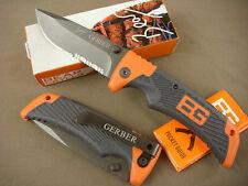 QR Half serrated Knife Tactical Outdoor Hunting Saber Tools Gift Orange Knife