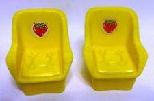 2 CHAIRS for Kenner 1981 VINTAGE STRAWBERRY SHORTCAKE GARDEN HOUSE Playset