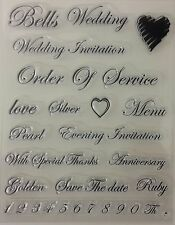 Wedding Text 2 Clear Stamp Set
