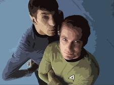 STAR TREK POPART 30x20 pittura non una stampa telaio DISP. Kirk Spock Enterprise