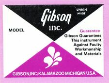 1970s Gibson interior label - 330 - 335 - 345 - 355 etc.