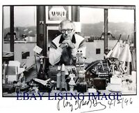 """RAY BRADBURY SIGNED AUTOGRAPH 8/""""x10 RP PHOTO WITH ALL HIS PROPS"""