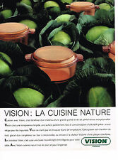 PUBLICITE ADVERTISING 054 1989 VISION corning  plats cuisson en verre     060514