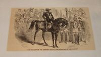1879 magazine engraving ~ NAPOLEON IV + FATHER, Tuileries, France
