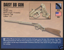 DAISY BB GUN B.B. Children's Rifle Gun Atlas Classic Firearms PHOTO CARD
