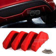Bumper Diffuser Molding Aero Parts Lip Fin Body Spoiler Chin Red 4P for All Car