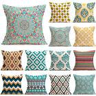 CHEAP! 18'' Home Decor Cotton Linen Throw Pillow Case Sofa Waist Cushion Cover
