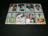 1978 TOPPS BASBALL Lot Of (8) CARDS / HERNANDEZ, PEREZ, GOSSAGE, RICHARD, GRICH