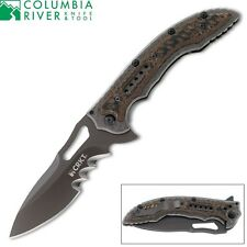 CRKT - FOSSIL Folding Knife IKBS Ball Bearing System Veff Serrations 5471K New