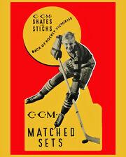 "Wall Art of 1940 CCM Hockey Skates & Sticks Advertising Poster, 8x10""Photo"