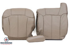 99-02 GMC Sierra 1500 2500 HD SLT -Driver Side COMPLETE Leather Seat Covers TAN-