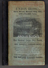 1867 BEAN'S HISTORY AND DIRECTORY OF NEVADA COUNTY, CALIFORNIA SIGNED INSCRIBED