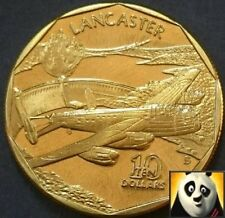 MARSHALL ISLANDS 1991 $10 LANCASTER LEGENDARY AIRCRAFT WW2 TEN DOLLAR COIN