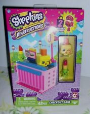 Shopkin's  Kinstructions- *Checkout Lane* - factory sealed- 62 pc. collectable