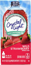 50 10-Packet Boxes Crystal Light Wild Strawberry With Caffeine On The Go
