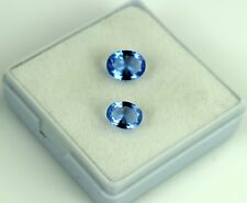 2.30 Ct Natural Blue Tanzanite Oval Cut Gemstone Matching Pair AGSL Certified